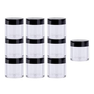 10pcs Glitter Sequins Nail Art Storage Pot Rhinestones Beads Holder Bottle