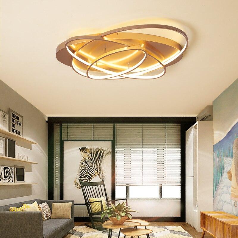 غطاء بيضاوي أضواء الثريا الإنارة Plafonnier لغرفة المعيشة المطبخ مصباح غرفة النوم تركيبات إضاءة حديثة جديدة الإضاءة عكس الضوء