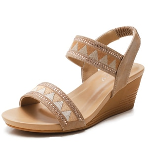 Wedge Sandals Women's Shoes 2021 Summer Thick-bottomed Open-toed Waterproof Sandals Non-slip Ladies Casual Party Shoes 2.5