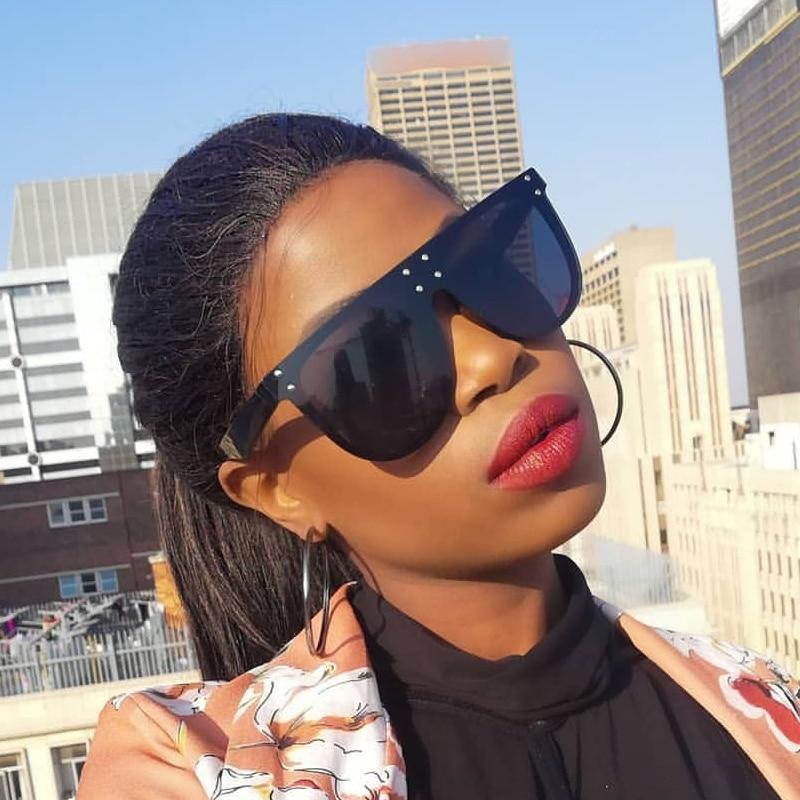 QPeClou Oversized Sunglasses Women 2019 Brand Designer Big Frame Shield Sun Glasses Men Black Oculos De Sol Spectacles Shades
