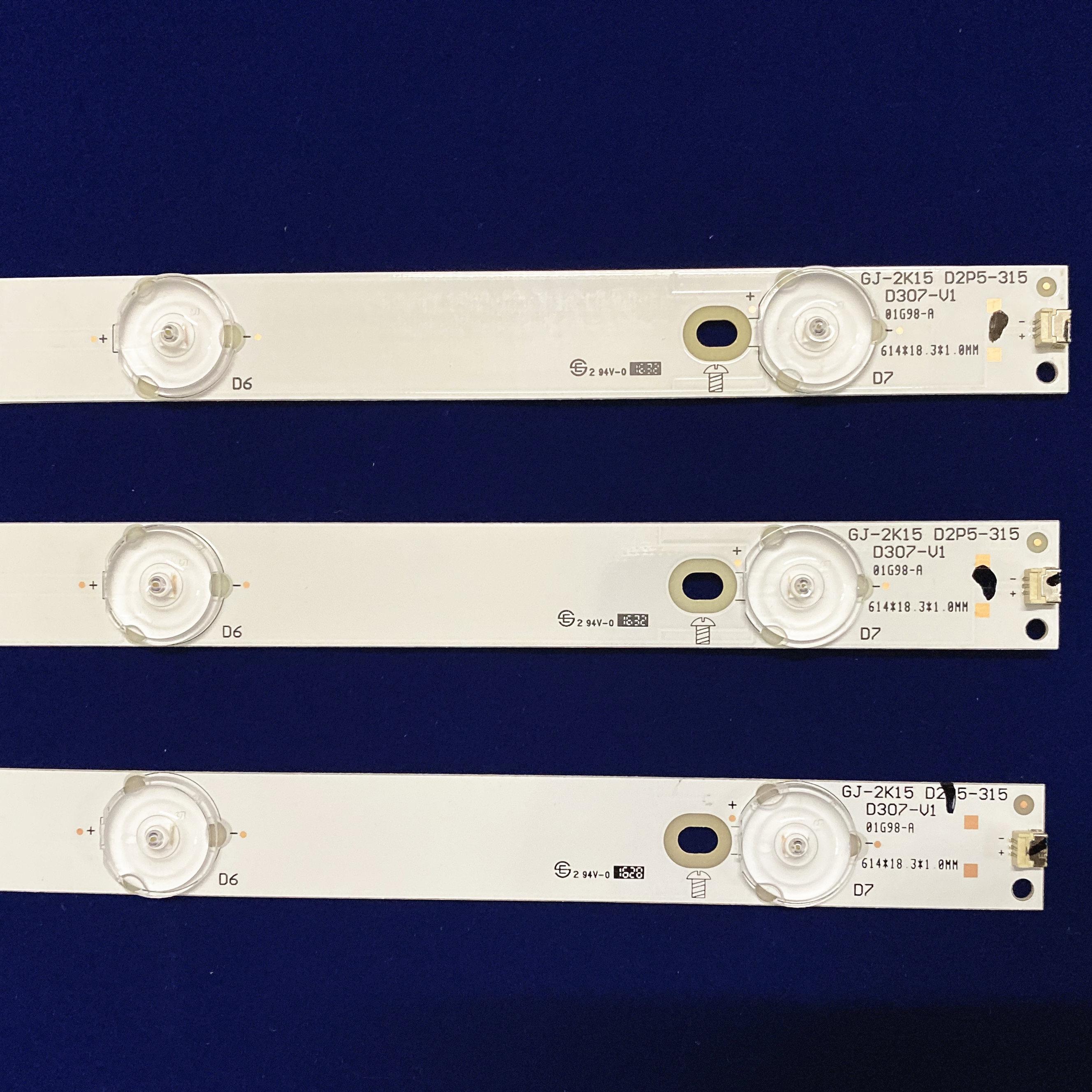 """100% novo 3 pçs led backlight tiras para philip s 32 """"tv 32phf5755/t3 tpt315b5 tv tv LBM320P0701-FC-2 bdm3201f"""