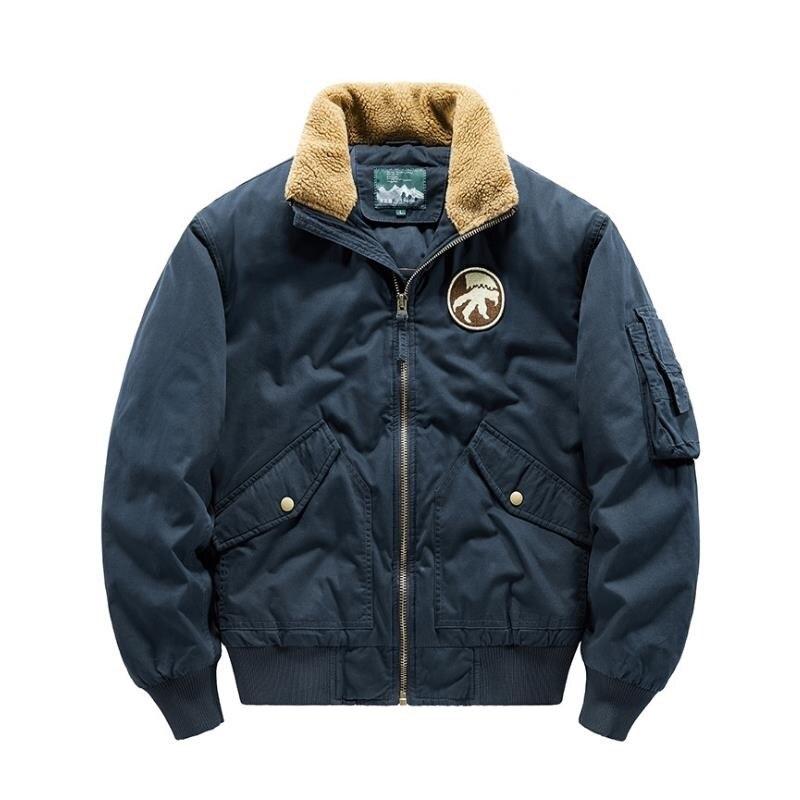 2020 Men's Winter Jacket New Cashmere Blouson Homme Male Lapel Business Coat Warm Thick Splice Cotton Velvet Overalls parkas