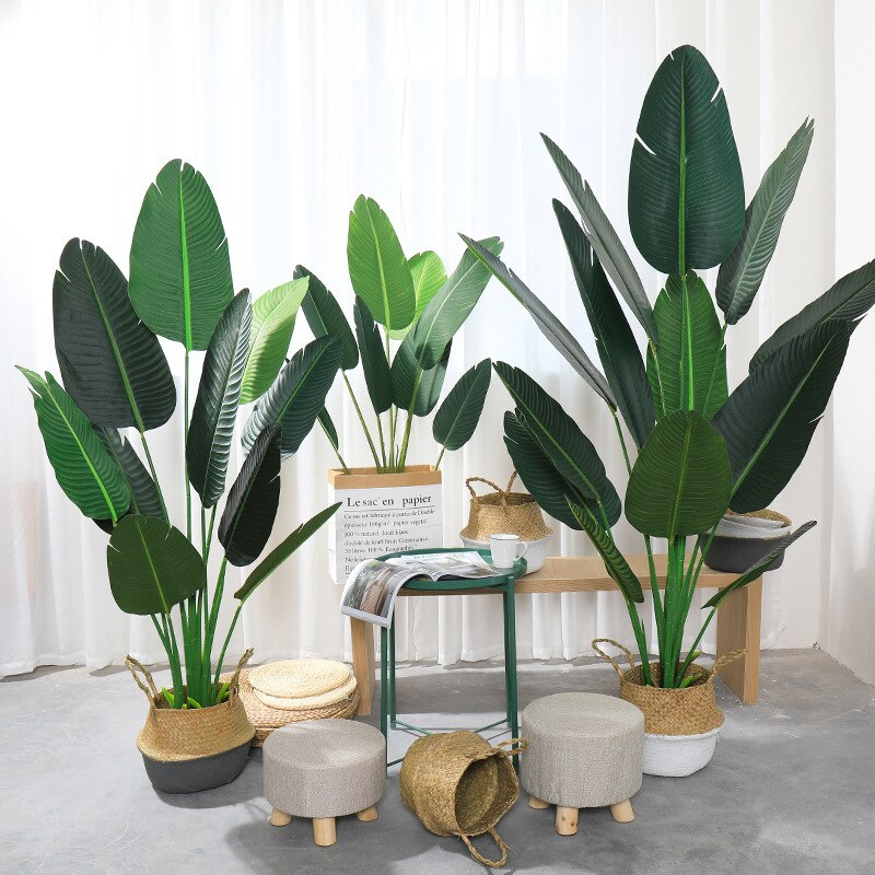 Artificial Tropical Palm Tree Fake Plant Floor Bonsai Interior Decoration and Home Garden Office Green Plant Tree Decoration