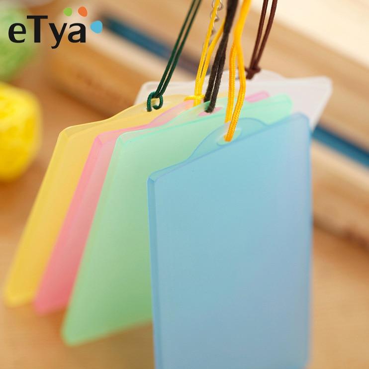 eTya Kids Bus ID Card Holder Protector Case Bag Bank Credit Card Holder Wallet Men Women Identity Ba