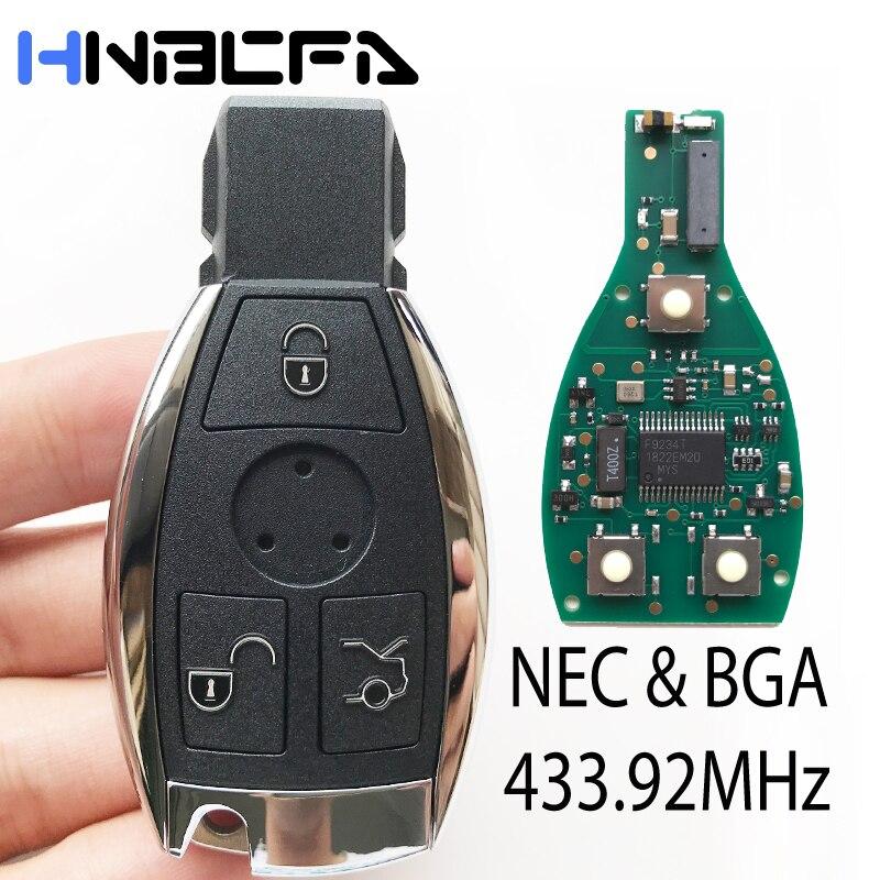 3 кнопки дистанционного ключа автомобиля для Mercedes Benz после 2000 года чехол с 433,92 МГц заменить чип NEC ключ Авто Смарт Управление заменить