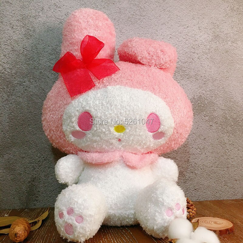 Fluffy My Melody Plush Doll Cute Rabbit Stuffed Animal Toy 33cm 2020 Rare Kid Gift