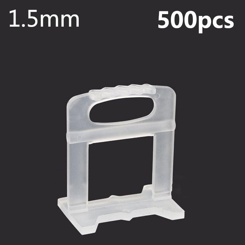 500 stks 1.5mm Tegel Leveling Systeem Leveling Spacers Vloeren Betegelen Tool Huishoudelijk Systeem Vloertegel Kits Gereedschap