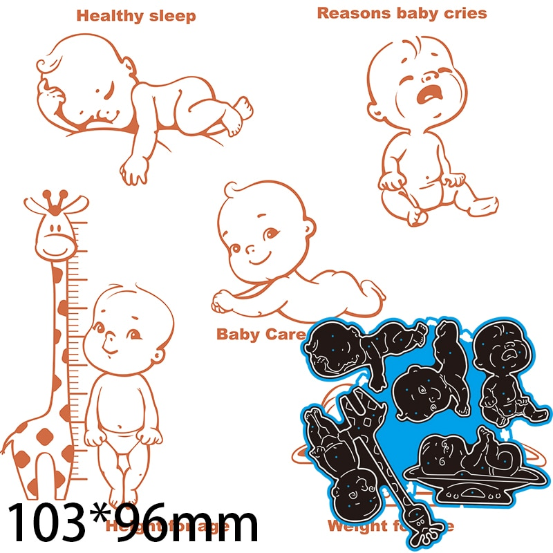 Cutting Dies Giraffe and Baby DIY Scrap Booking Photo Album Embossing Paper Cards 103*96mm
