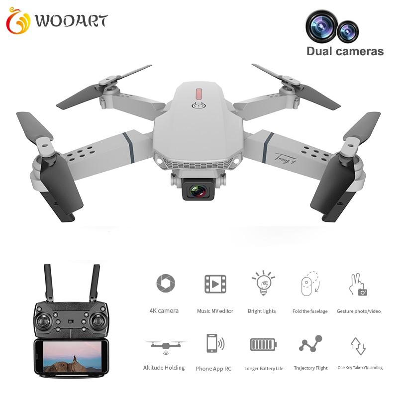 Drone E88 interruptor de doble cámara con cámara Hd 1080p Modo de alto control brazo plegable Rc Quadcopter Drone X Pro Rtf Dron para regalo
