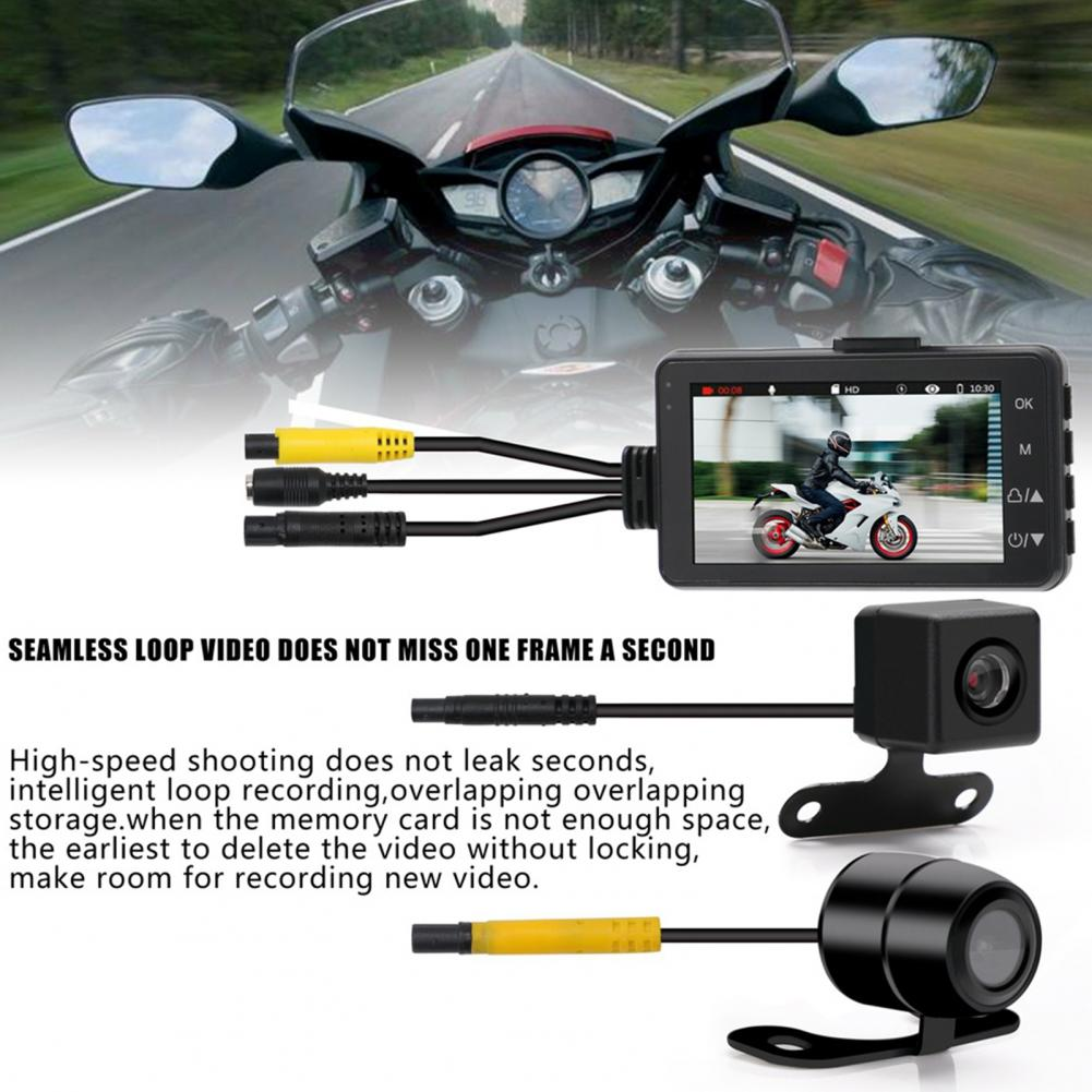 Motorcycle Dashcam Portable High Definition ABS 1080P Front Rear Dual Lens Motorcycle DVR for Driving Motorcycle DVR enlarge