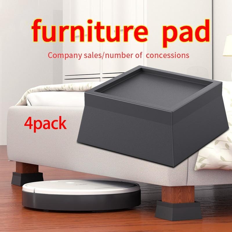 4 حزمة مربع السرير والأثاث الناهضون تكويم الثقيلة المضادة للانزلاق قاعدة زيادة يناسب جميع أنواع المكاتب ، الأرائك ، الأرائك