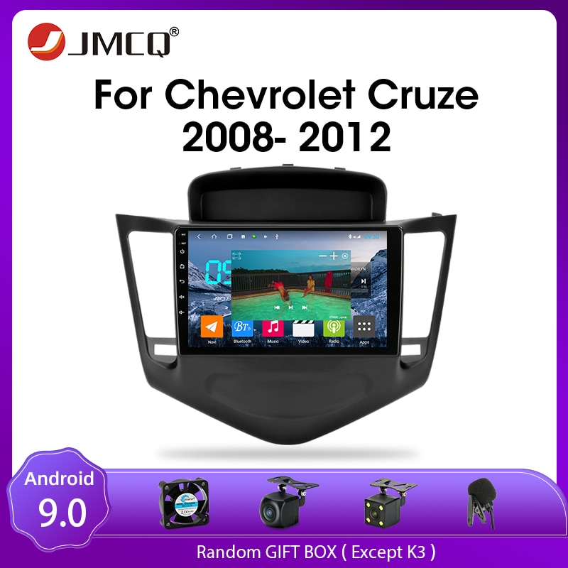 JMCQ Android 9.0 Car Radio For Chevrolet Cruze 2009-2014  Multimedia Video Player 2din GPS Navigaion Split Screen with CANBUS недорого