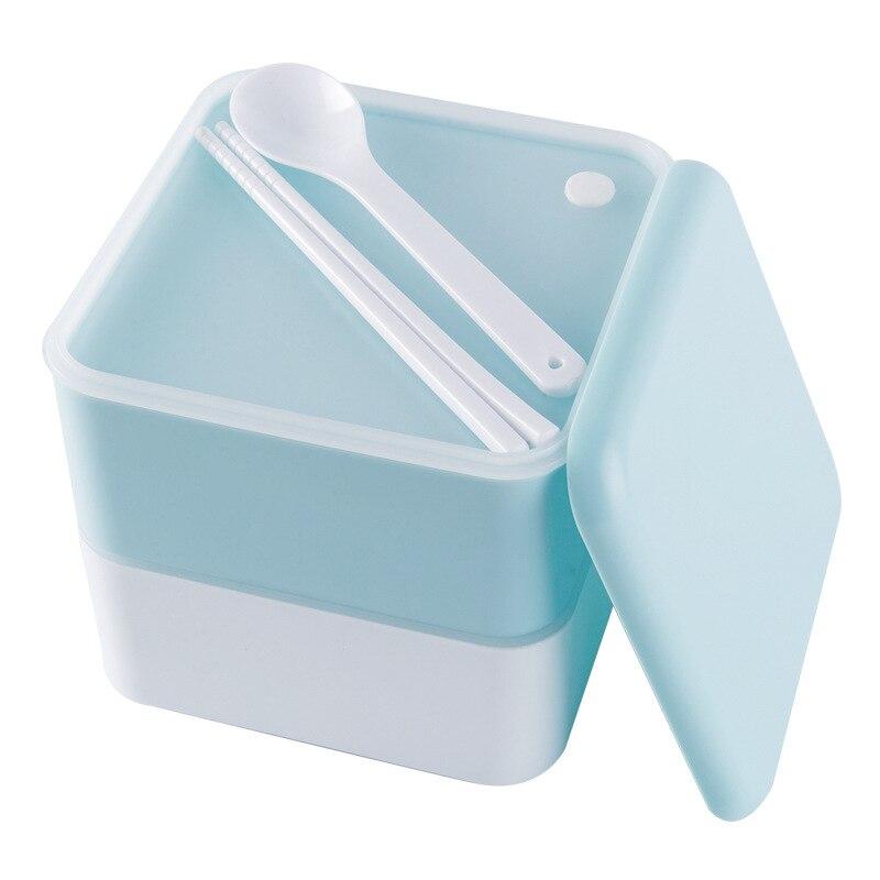 صندوق غذاء وجبة بنتو صندوق الغداء نزهة الغذاء الحاويات الغذاء تخزين الحاويات الأطفال طالب صندوق الغداء طبقة مزدوجة مانعة للتسرب