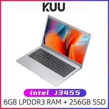 KUU SBOOK M 14.1 pouces Intel J3455 étudiant ordinateur portable 6GB RAM 128GB SSD ordinateurs portables Windows 10 Intel Celeron J3455 Wifi ordinateur
