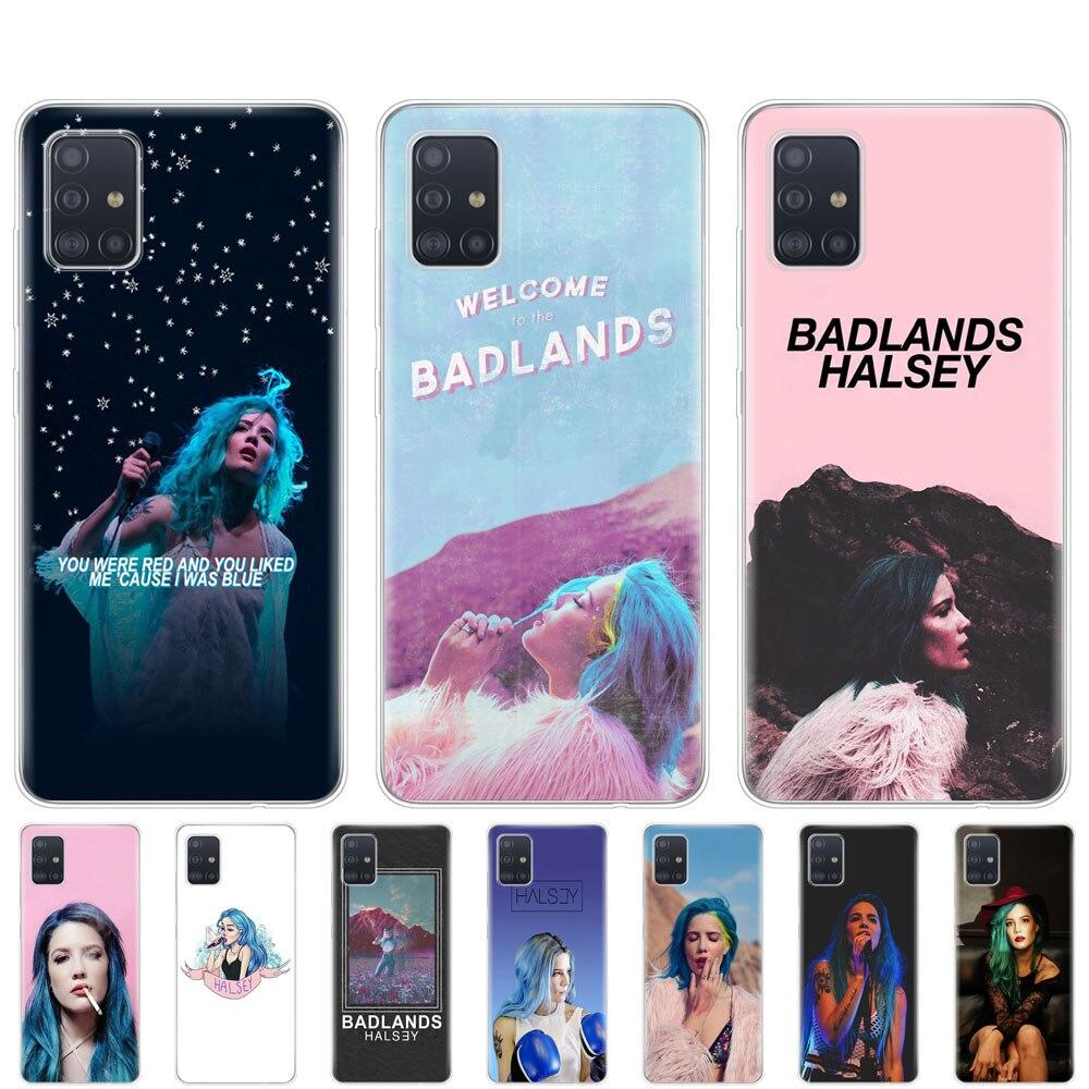 Caso para samsung galaxy A31 A41 A51 A71 A01 A81 A91 A11 A30S A20S A21S A50S M11 M21 M31 M30S M40S Halsey colores letras Badlands