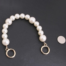 Fashion High Grade Large Pearl Bag Decoration Luggage Accessories Chain White Mobile Phone Rope Hand