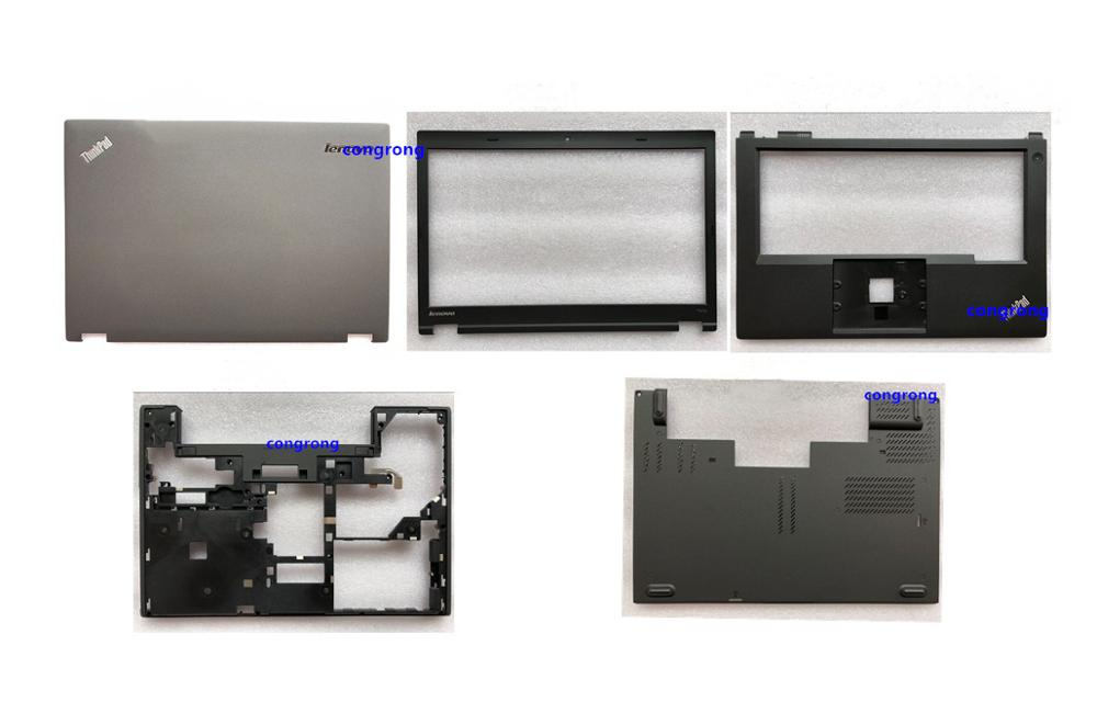 Para Lenovo ThinkPad T440P LCD tapa trasera cubierta trasera marco bisel frontal teclado superior reposamanos base cubierta inferior