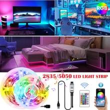 LED Light Strips 5V USB Bluetooth APP Control Infrared Controller 5050 2835 RGB Flexible Tape TV PC