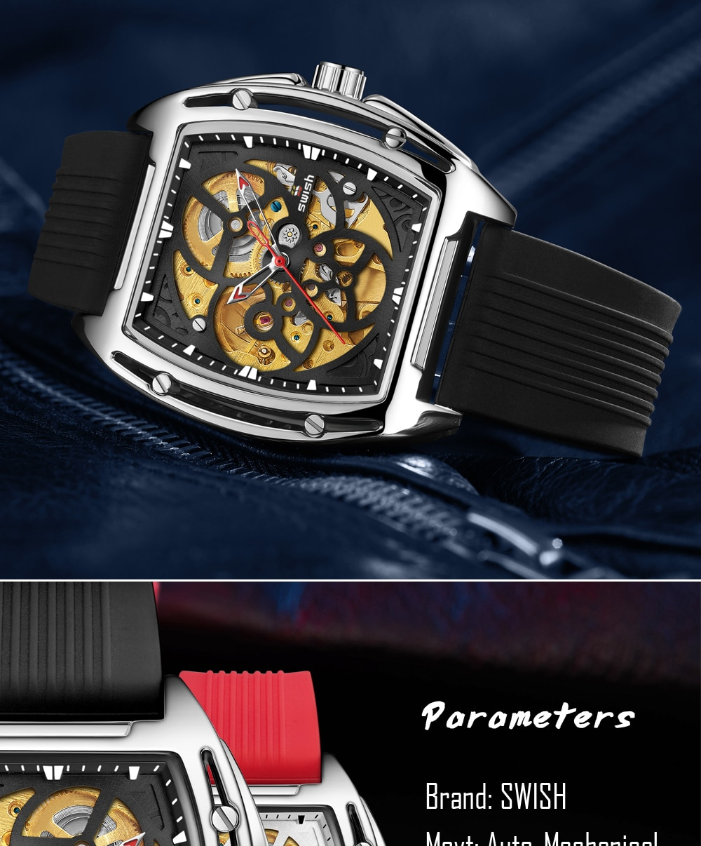 Hb0547a27025e4e81a07027adefee5119i SWISH Brand Design Luxury Men's Mechanical Wristwatch