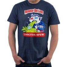 2020 nowa drukowana zabawna kosz na śmieci Lads Doctor Spew Doctor Who męska koszulka camiseta masculina damska koszulka