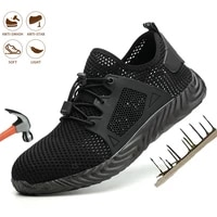 indestructible ryder safety shoes steel toe cap breathable outdoor steel toe footwear puncture proof boots lightweight shoes men