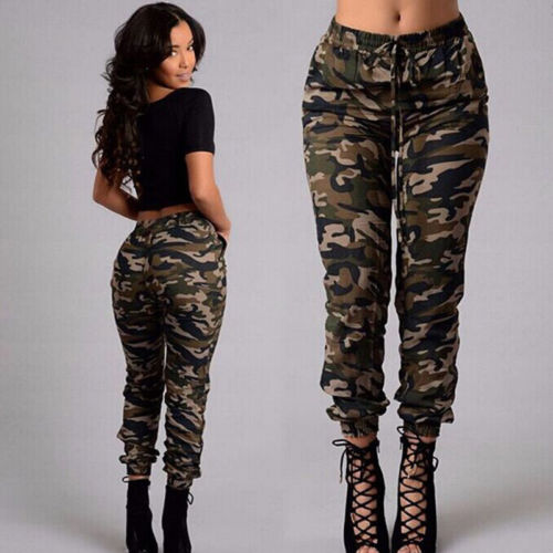 New Fashion Plus Size Womens Camouflage Army Skinny Fit Stretchy Jeans Jeggings Trousers 2XL Streetw