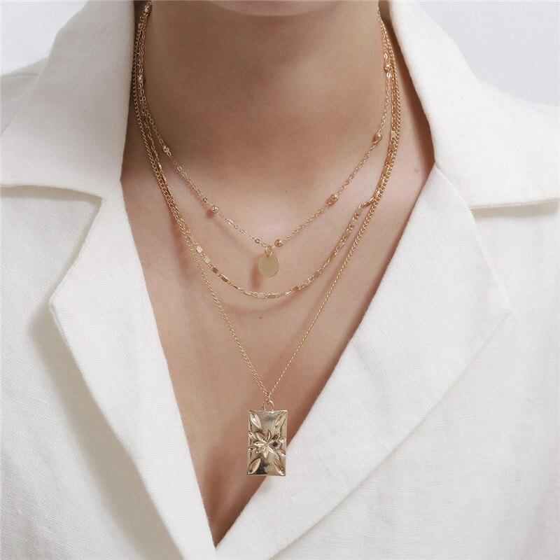Collares de moda de cadenas de oro para mujeres 2020 Bijoux Femme...
