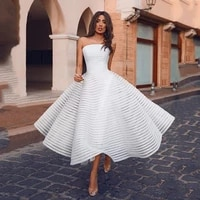 white prom dresses 2021 women party night long vestidos de gala elegant evening gowns a line sleeveless strapless robe de soiree
