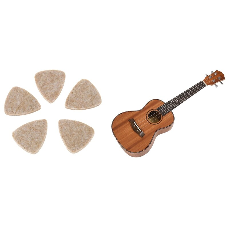 1x الحفل القيثارة 4 سلاسل الماهوجني الغيتار 23 بوصة سوبرانو و 5 قطعة لينة الصلب القيثارة ورأى الصوف يختار مندولين