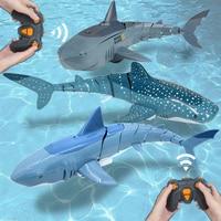 Забавная радиоуправляемая акула игрушка с дистанционным управлением животные роботы ванная комната Бассейн электрические игрушки для дет...