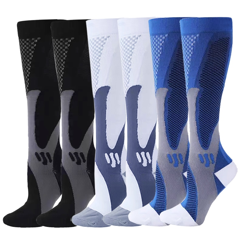 6Pair 20-30 mmHg Quality Compression Socks For Women & Men Best Support Running Marathon Edema Diabetes Varicose Veins