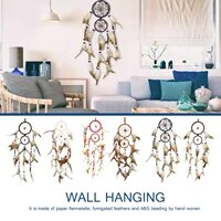 india handmade black dream catcher handmade rattan dreamcatcher with feathers for home wall decorations ornament