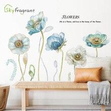 Ciepłe naklejki sypialnia nocna dekoracje ścienne sofa do salonu tło telewizora ściana naklejki romantyczne kwiaty samoprzylepne home decor