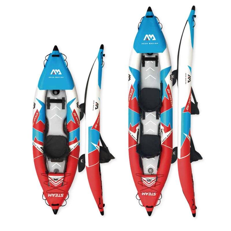 2020 Aqua Marina STEAM ST bote inflable kayac deportivo canoa PVC bote inflable balsa bomba asiento drop-stitch suelo laminado profesional