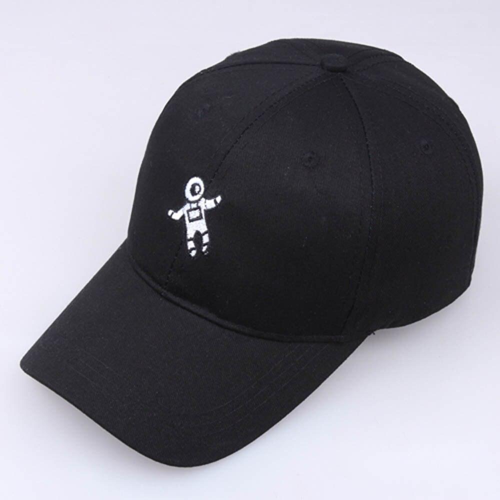Mujeres Hombres sombrero Unisex moda sombrero astronauta Emberoidery gorra de béisbol Cap BK exterior sombrero de sol ajustable casual gorras deportivas nuevo