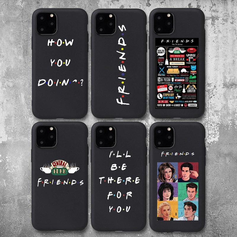 Perk central amigos padrão caso de telefone para iphone 6s 7 8 plus x xr xs max 11 pro max 5S se 2020 tpu macio capa para iphone 11