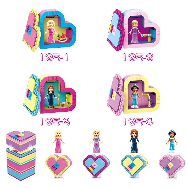 For Locking Friends Girls Merida's Jasmine's Princess Figures City Girls Scooter Building Blocks Compatible Lockings Friend Toys