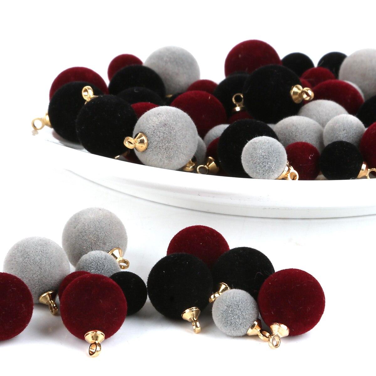 10 pçs/lote novo 12mm/8mm pano reunindo botões perfurados circulares preto/cinza/borgonha contas caber sacos de vestuário artesanato decoração