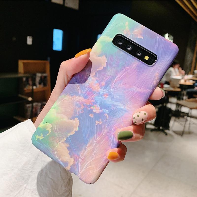 3D Relief Matte Fall für Samsung Galaxy S20 Ultra S10 Plus e S9 S8 Hinweis 10 5G 9 8 s7 rand Fall Sterne Tinte Malerei PC Abdeckung Funda