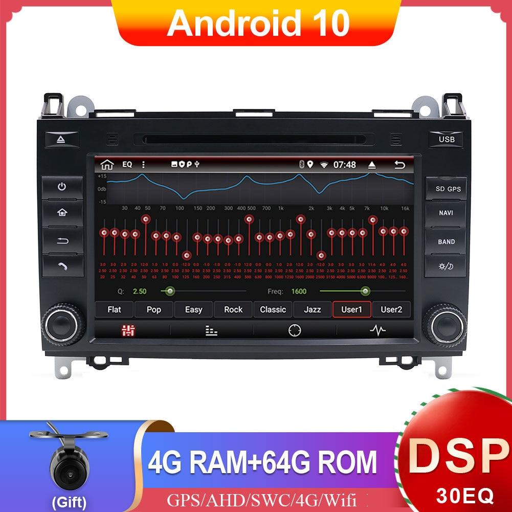 Dsp px6 rádio 2 din android 10 carro estéreo dvd player gps para mercedes benz sprinter/vito/viano/w906/w169/w245/w639