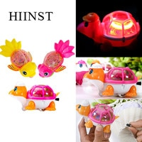 HIINST Wind Up Toys for children LED light Clockwork rope moving Funny fish turtle Toy 1pc Christmas Animal Toy for Kids Gift