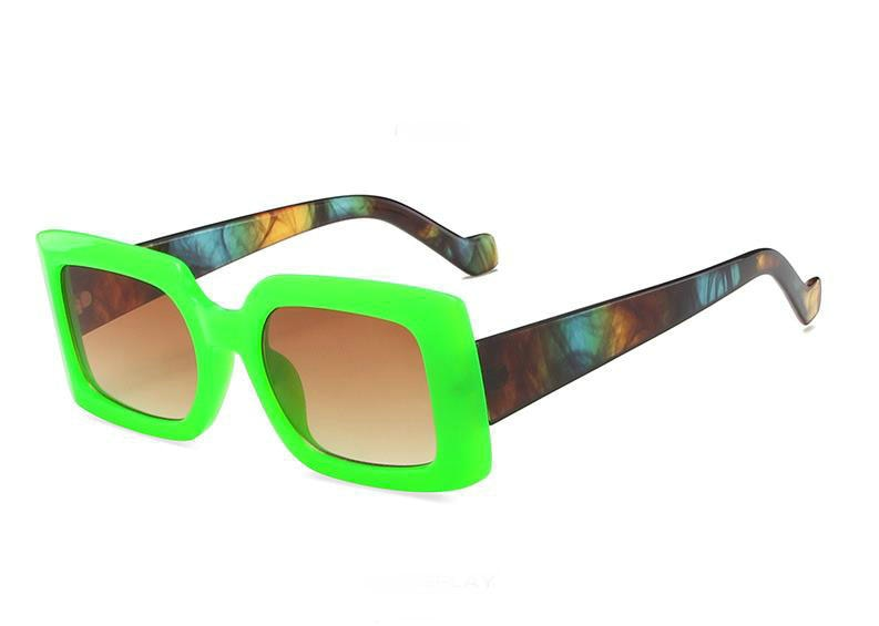 women New Brand rectangle Sunglasses Square Glasses Personalized Cat Eyes Colorful Sunglasses Trend