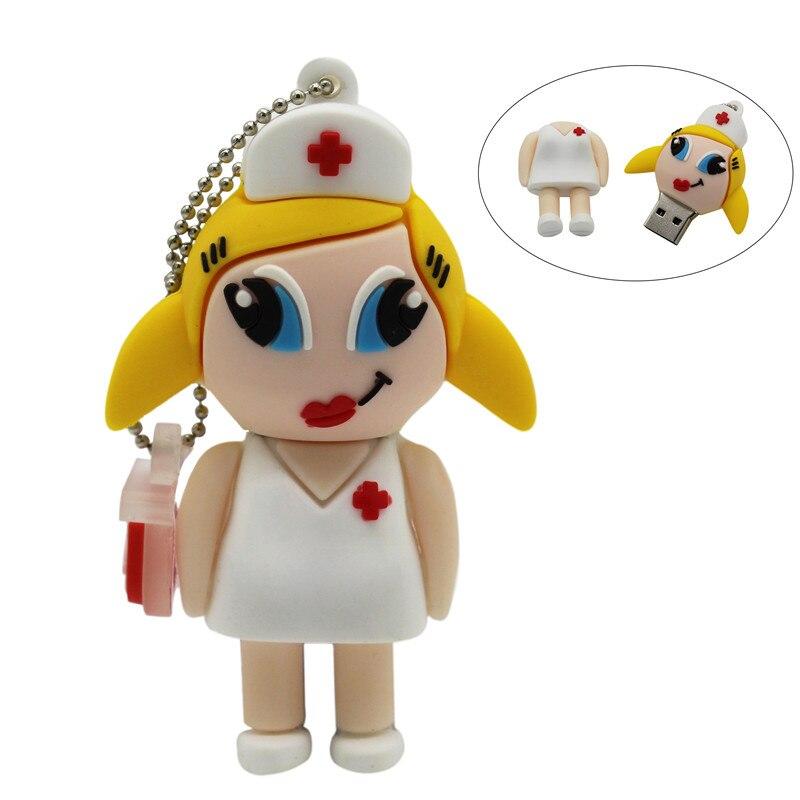 BiNFUL doctor Nurse Pendrive 4 ГБ 8 ГБ 16 ГБ 32 ГБ 64 ГБ USB 2,0 флеш-накопитель USB флеш-накопитель