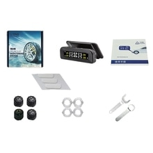 Tyre Pressure Monitoring System Solar Power Digital Lcd Display Auto Security Alarm Systems Tyre Pre