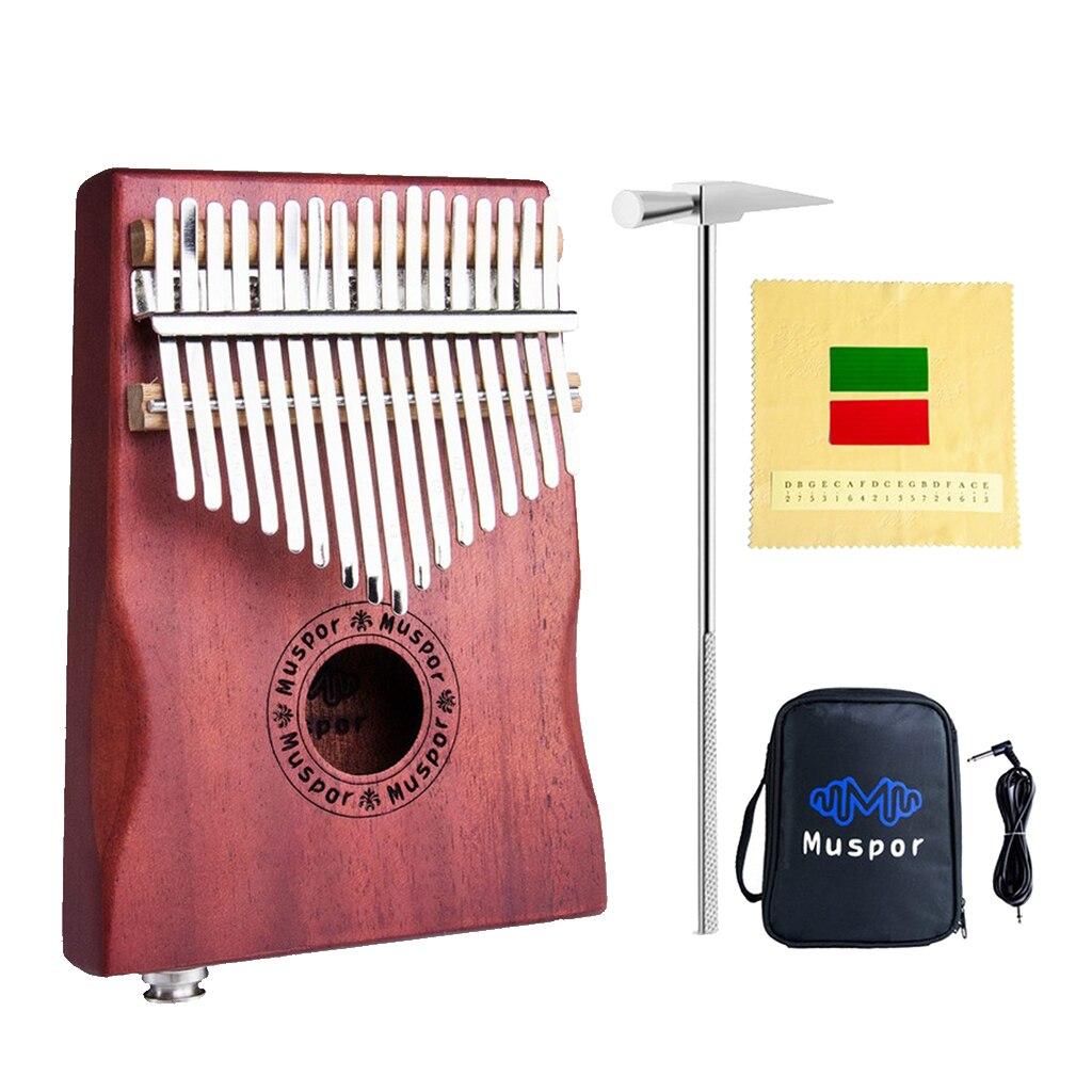 Portable 17 Keys Thumb Piano Kalimba Model Mahogany Wood Mbira Finger Percussion Instrument for Beginner Entry Accessories enlarge