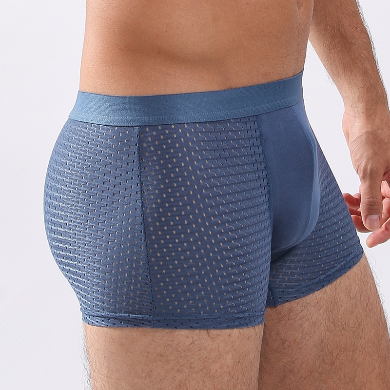 2020 de malla transpirable de los hombres boxeadores de talla grande Body para Hombre Ropa interior ropa interior masculina ropa interior Sexy ropa interior