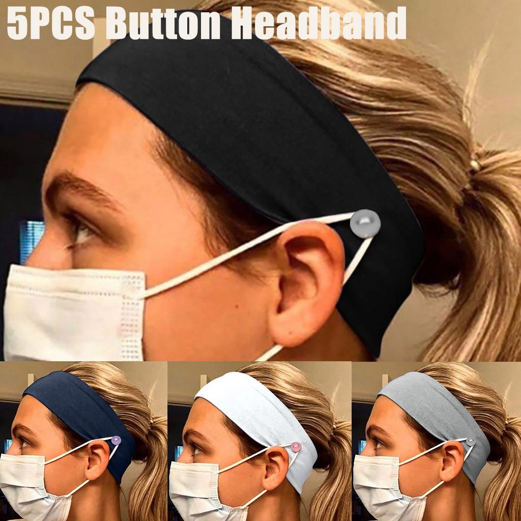 Respirator headband Outbreak protection Button Headband Yashmak Holder Wearing a Yashmak- Protect practical Home Your Ears 5PCS
