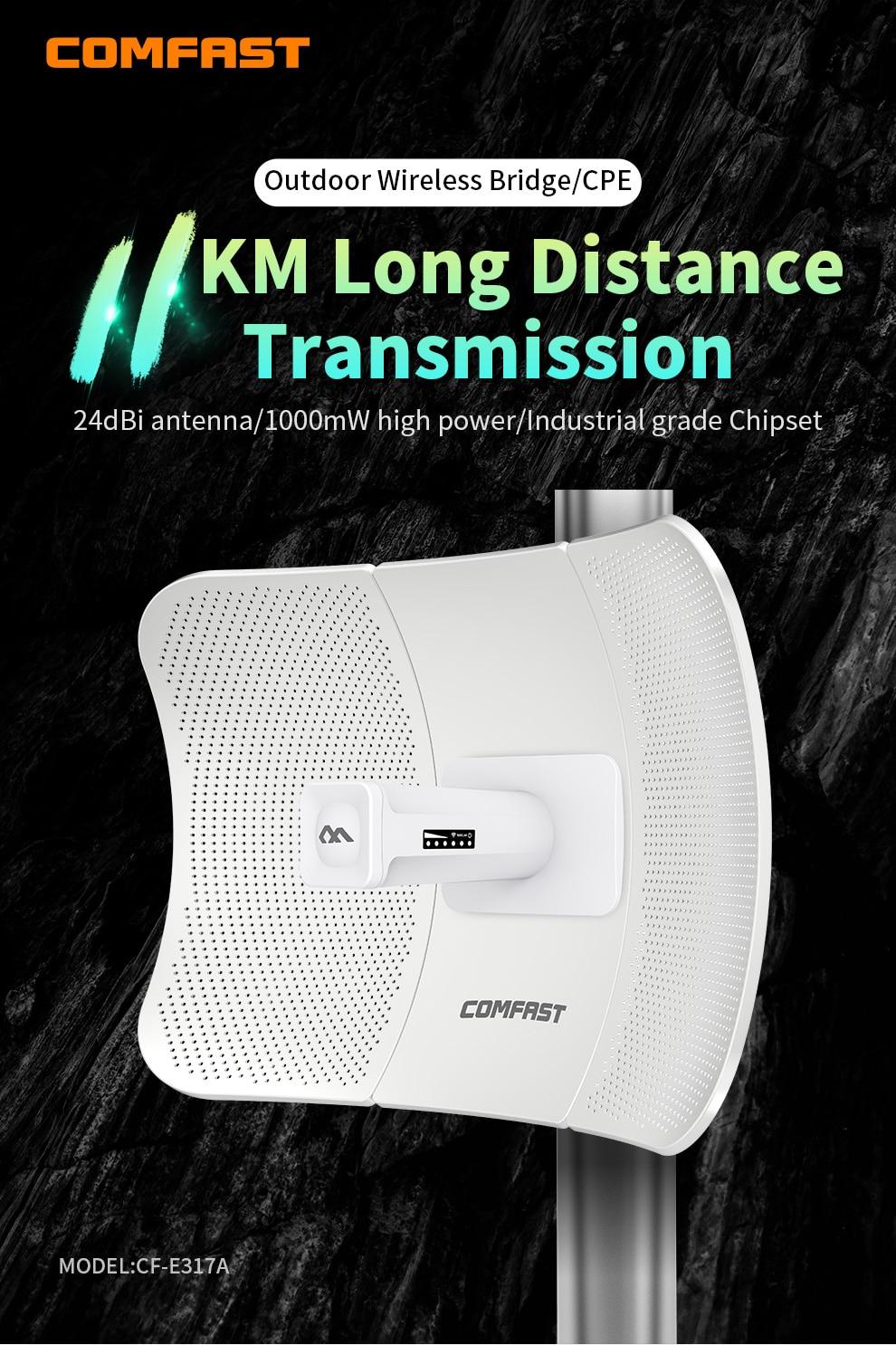 3-11KM 5Ghz Outdoor Wireless AP Bridge WIFI CPE Access Point Long Distance WI-FI Signal Amplifer Antenna Nanostation Extender enlarge
