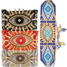 ZHONGVI Evil Eye Bracelet For Women Trendy Jewelry MIYUKI Lucky Pulseras Mujer Moda 2020 Unique Bracelets Handmade Loom Woven
