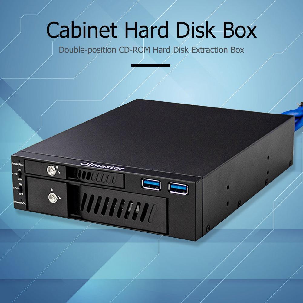 Oimaster Dual Unidad óptica Mobile Rack estación Disco Duro carcasa 2,5/3,5 pulgadas interna HDD SSD caja para PC de escritorio caliente